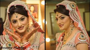 indian bridal makeup in shades of pink