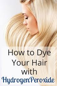 Bleach Your Hair With Hydrogen Peroxide