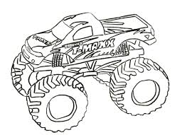 Free Monster Truck Coloring Pages Wumingme