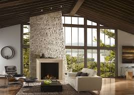 cast stone fireplace mantel ideas living room contemporary with eldorado stone wooden lounge chairs
