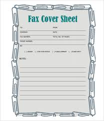 Printable Fax Sheet Fax Cover Sheet Template 14 Free Word Pdf Documents Download