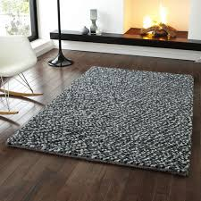 pebbles grey pb hand knotted modern shaggy rug