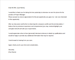 Thank You Note For A Phone Interview 13 Sample Thank You Letters After Phone Interview Doc Pdf