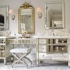 mirrored bathroom vanity borghese mirrored furniture