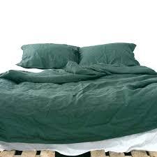 forest green bedding forest green bedding 3 piece linen bedding set linen duvet cover and 2