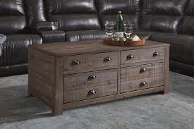 Rustic Pine Trunk Style Rectangular Lift Top Coffee Table With 2 Drawers U0026  Casters Great Ideas