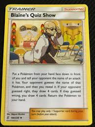 Collectible Card Games Blaine's Quiz Show 186/236 MINT/NM Pokemon TCG  UNIFIED MINDS woodlandssuites.com
