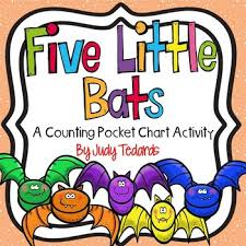 Five Little Bats A Counting Pocket Chart Activity