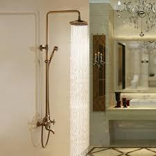 Aur Lie Antique Brass Wall Mounted Shower Set