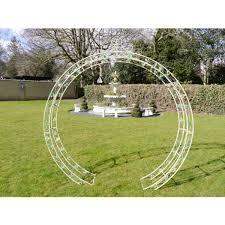 round garden rose arch cream metal