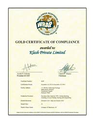 Social Compliance Klash Group Of Industries Corporate