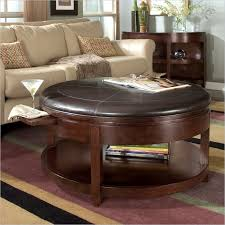 leather topped coffee tables often arrive in the guise of a sort of ottoman hybrid