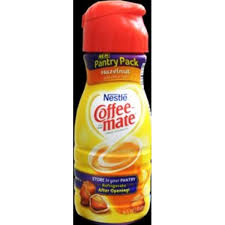 nestle coffee mate hazelnut non dairy liquid coffee creamer