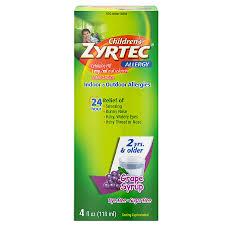 children s zyrtec 24 hour allergy relief syrup g flavor g4 oz