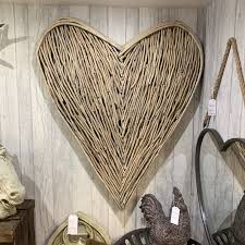 Large Wicker Heart With Lights Extra Large Wicker Wall Heart