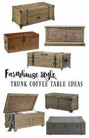 Another design from unique steamer trunk coffee table is one with a retractable slide. Farmhouse Style Wooden Trunk Coffee Table Ideas Rooms For Rent Blog