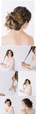 花嫁自分で簡単にセットする結婚式のお呼ばれヘアスタイル