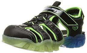 sketchers kids sandals. skechers kids magic lites-90482n lighted sandal (toddler), black/blue/ sketchers sandals