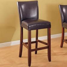 Telegraph Brown Faux Leather Bar Stool Chair Coaster 100388 Set In  With Back Leather Bar Stools With Back R78