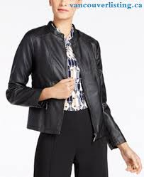 women s alfani seamed faux leather jacket only at macy s
