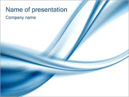 Blue Power Point Templates Blue Abstract Waves Powerpoint Template Infographics Slides