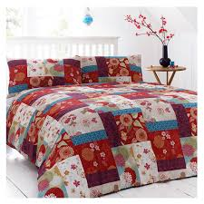 just contempo oriental patchwork duvet cover king red co uk kitchen home