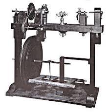 treadle metal lathe. fig 26: treadle lathe - late17th c or early 18th c. metal n