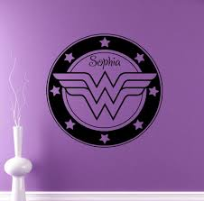 aliexpress com buy personalized name wall decal wonder woman