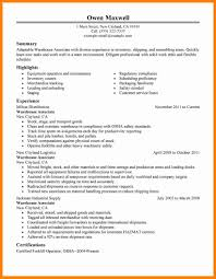 6 Resume For Warehouse Work Forklift Resume
