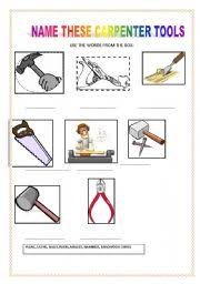 carpenter tools name. english worksheet: carpenter tools carpenter tools name g