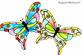 I Do Not Like This Painting Template Colorful Painted Paper Butterfly Craft For Kids Buggy And