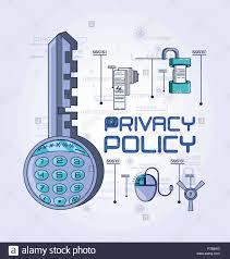 Política de privacidad seguridad digital, diseño de ilustraciones  vectoriales Imagen Vector de stock - Alamy
