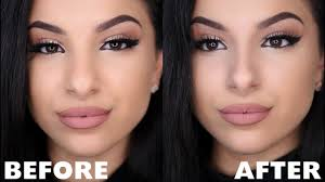 make your nose look smaller with makeup nose contour