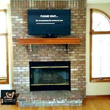 mounting tv on brick fireplace ing