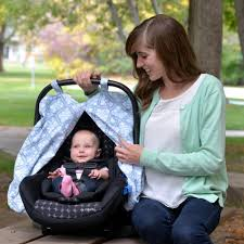 jj cole infant car seat canopy blue iris j0053