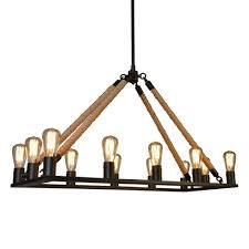 y decor 12 light black chandelier