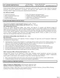 Police Officer Resume Samples Police Officer Resume Example Magnificent Creative Police Lieutenant 28