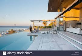infinity pool house. Contemporary House Infinity Pool And Patio Of Modern House With Pool House