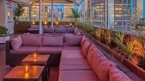 Living Room Bar And Terrace Times Square Rooftop Bar Sky Room Four Points By Sheraton