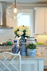 Ways to Save Money to Add or Update a Kitchen Island or Bar. Blue White ...