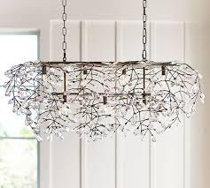 bella crystal rectangular chandelier pottery barn