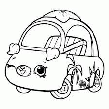 Shopkins Cutie Cars Kleurplaat Printen Leuk Voor Kids