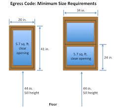 window egress laws minimum size requirements
