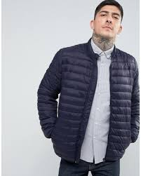 Sweet Deal on ASOS Quilted Jacket with Funnel Neck in Navy - Navy & ASOS Quilted Jacket with Funnel Neck in Navy - Navy Adamdwight.com