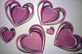 3d card pinkhearts for interior decorating kids girls wall art on 3d paper heart wall art with wall decals 3d card pinkhearts for interior decorating kids girls