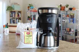 picture of how to clean a coffee maker with citric acid