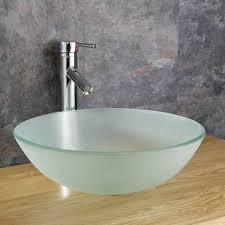 glass vanity basins monza frosted glass countertop sink basin basincouk