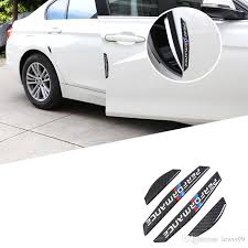 car door protector carbon fiber door side stickers car anti collision strips sticker for bmw e90 e46 f30 f10 x1 x3 x5 x6 gt z4 f15 f16 by