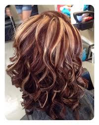 Red hair blonde highlight