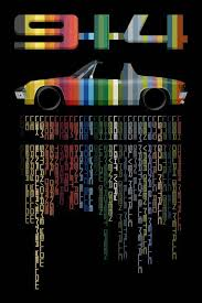 Porsche 914 In Factory Colors And Codes Full Color Giclee